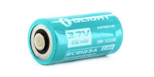 Аккумулятор Li-ion Olight ORB-163C06 16340 3,7 В. 650 mAh