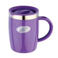 Кружка дутая Biostal Fl?r (0,4 литра) с крышкой, фиолетовая
