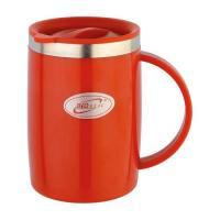 Кружка Biostal Fl?r (0,5 литра) с крышкой, красная
