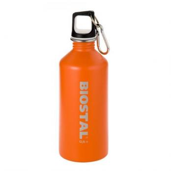 Бутылка Biostal Fl?r (0,75 литра) пробка с карабином, оранжевая