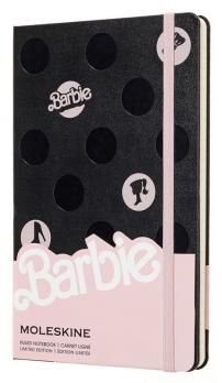 Блокнот Moleskine Barbie LE, цвет черный, в линейку