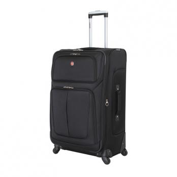 Чемодан Wenger Sion, чёрный, 46x29x80 см, 90 л