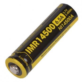 Аккумулятор незащищенный Nitecore IMR NL14500 3.7v 650mA 6.5A