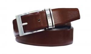 Ремень Cross Classic Century двухсторонний, кожа наппа гладкая, чёрный/коричневый, 117х3,5 см