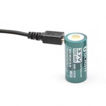 Аккумулятор Olight 16340 3,7 В 650 mAh (+USB порт зарядки)