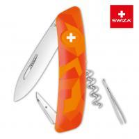 Швейцарский нож SWIZA C01 Camouflage, 95 мм, 6 функций, оранжевый