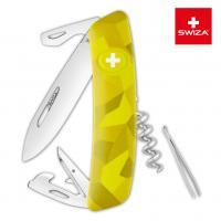 Швейцарский нож SWIZA C03 Camouflage, 95 мм, 11 функций, желтый