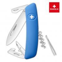 Швейцарский нож SWIZA D03 Standard, 95 мм, 11 функций, синий