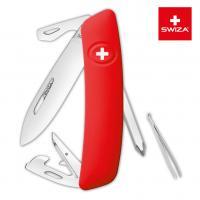 Швейцарский нож SWIZA D04 Standard, 95 мм, 11 функций, красный