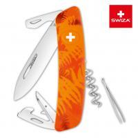 Швейцарский нож SWIZA C03 Camouflage, 95 мм, 11 функций, оранжевый