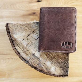 Бумажник Klondike Jamie, коричневый, 9x10,5 см