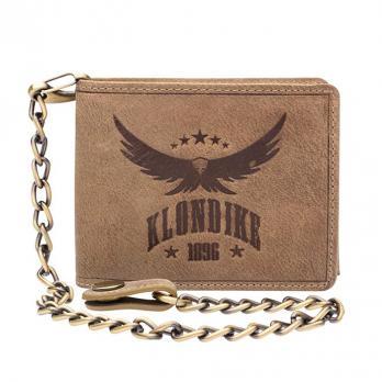 Бумажник Klondike Happy Eagle, коричневый, 12,5x10 см