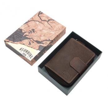 Бумажник Klondike Wendy, коричневый, 10x13,5 см