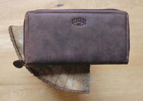 Бумажник Klondike Mary, коричневый, 19,5x10 см
