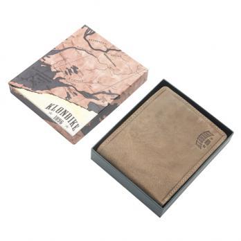 Бумажник Klondike Rob, коричневый, 12,5x10 см