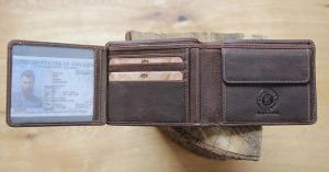 Бумажник Klondike Peter, коричневый, 12x9,5 см