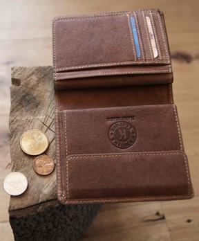 Бумажник Klondike Finn, коричневый, 10x11,5 см