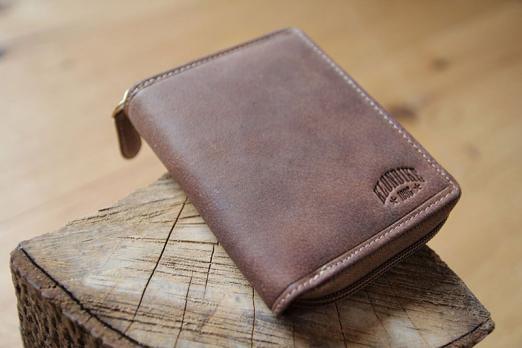 Бумажник Klondike Dylan, коричневый, 10,5x13,5 см