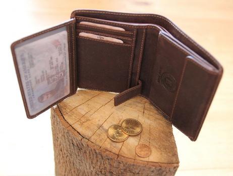 Бумажник Klondike Don, коричневый, 9,5x12 см