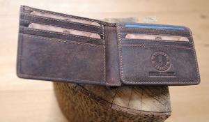 Бумажник Klondike Billy, коричневый, 11x8,5 см