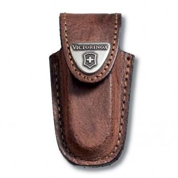Чехол кожаный Victorinox, для ножей-брелоков 58 мм, коричневый