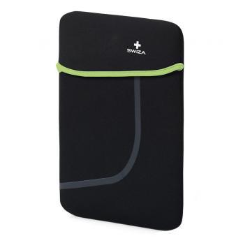 """Чехол для ноутбука SWIZA Moranda 10"""", цвет черный с зеленым"""
