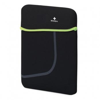 """Чехол для ноутбука SWIZA Moranda 13"""", цвет черный с зеленым"""