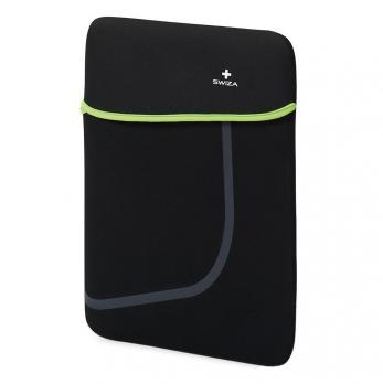 """Чехол для ноутбука SWIZA Moranda 15"""", цвет черный с зеленым"""