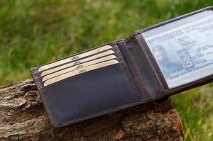 Бумажник Klondike Digger Angus, темно-коричневый, 12х9x2,5 см