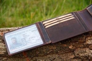 Бумажник Klondike Digger Amos, темно-коричневый, 12,5x10x2,5 см