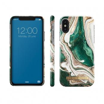 "Чехол для iPhone X/XS iDeal, ""Golden Jade Marble"""