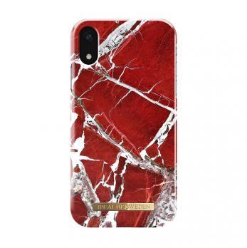 "Чехол для iPhone XR iDeal, ""Scarlet Red Marble"""
