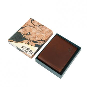 Бумажник Klondike Dawson, коричневый, 12,5х2,5х9,5 см