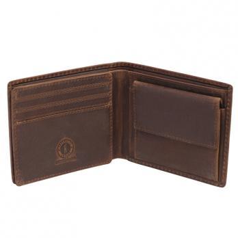 Бумажник Klondike Yukon, коричневый, 10,5х2,5х9 см