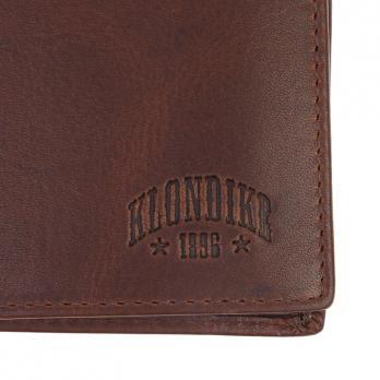 Бумажник Klondike Dawson, коричневый, 9,5х2х10,5 см
