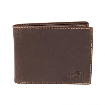 Бумажник Klondike Yukon, коричневый, 12,5х3х9,5 см