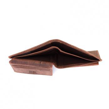 Бумажник Klondike Yukon, коричневый, 11х2х9,5 см