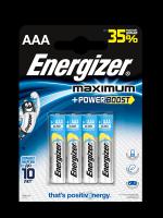 Щелочные батарейки Energizer Maximum LR03/E92 AAA FSB4 (4 штуки)