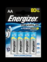 Щелочные батарейки Energizer Maximum LR6/E91 AA FSB4 (4 штуки)