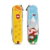 "Нож-брелок Victorinox Classic LE 2019, 58 мм, 7 функций, ""Alps Cheese"""