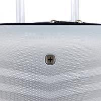 Чемодан Swissgear Fribourg, серебристый, 37x23x54 см, 35 л