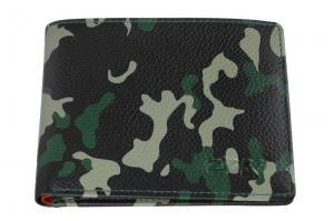 Портмоне Zippo, цвет зелёно-чёрный камуфляж, натуральная кожа, 10,8?2,5?8,6 см