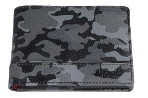 Портмоне Zippo, цвет серо-чёрный камуфляж, натуральная кожа, 11,2?2?8,2 см