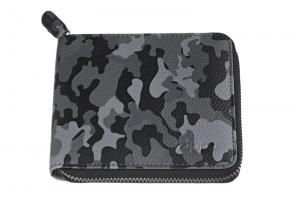 Кошелёк Zippo, цвет серо-чёрный камуфляж, натуральная кожа, 12?2?10,5 см