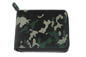 Кошелёк Zippo, цвет зелёно-чёрный камуфляж, натуральная кожа, 12?2?10,5 см