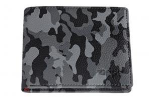 Портмоне Zippo, цвет серо-чёрный камуфляж, натуральная кожа, 10,8?2,5?8,6 см