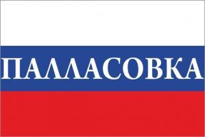 Флаг России с названием города Палласовка