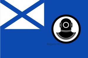 Флаг  поисково-спасательных судов (катеров) Военно-Морского Флота.
