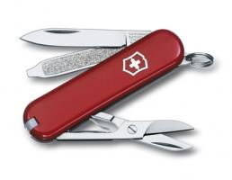 Нож-брелок Victorinox Classic, 58 мм, 7 функций, красный*