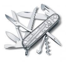 Нож Victorinox Huntsman, 91 мм, 15 функций, полупрозрачный серебристый